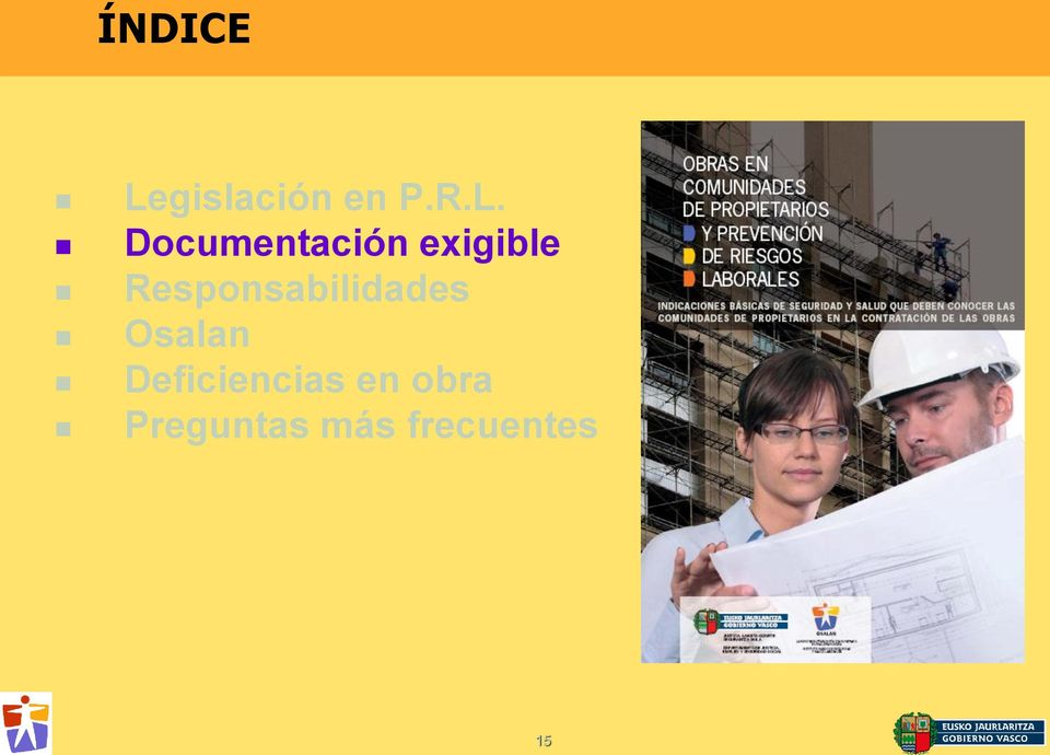 Documentación exigible