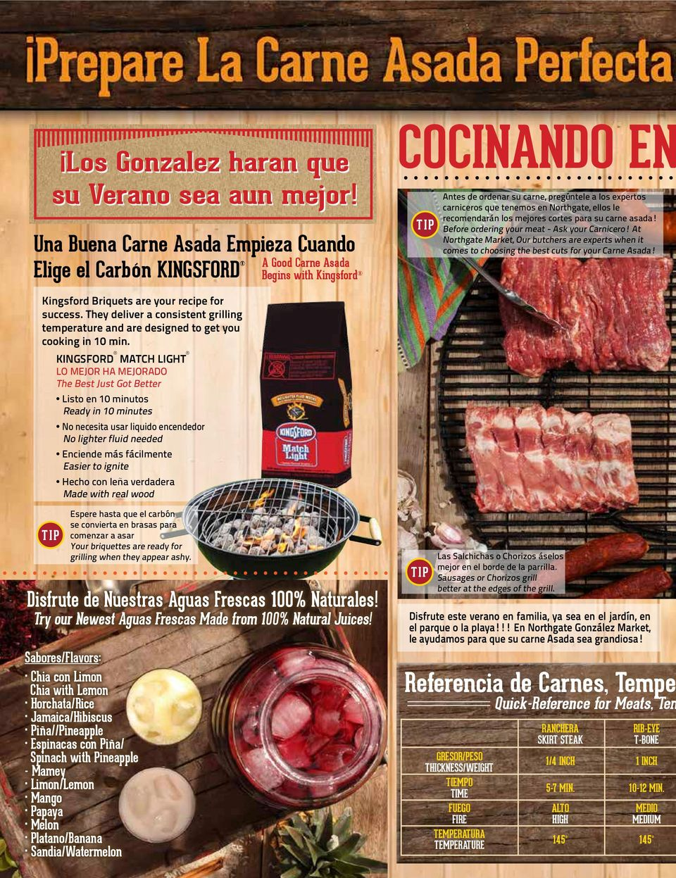 Northgate, ellos le recomendarán los mejores cortes para su carne asada! Before ordering your meat - Ask your Carnicero!