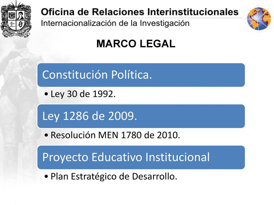 Resolución MEN 1780 de 2010.
