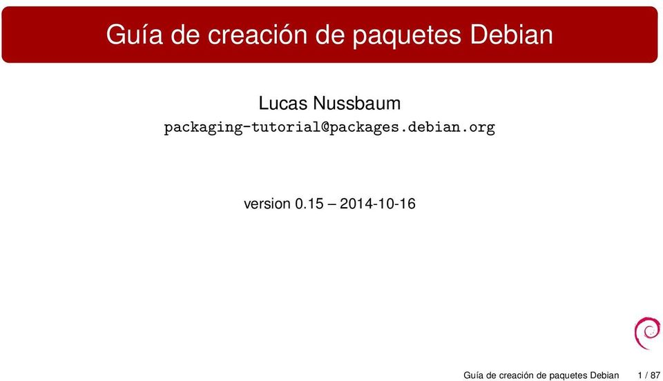 packaging-tutorial@packages.debian.