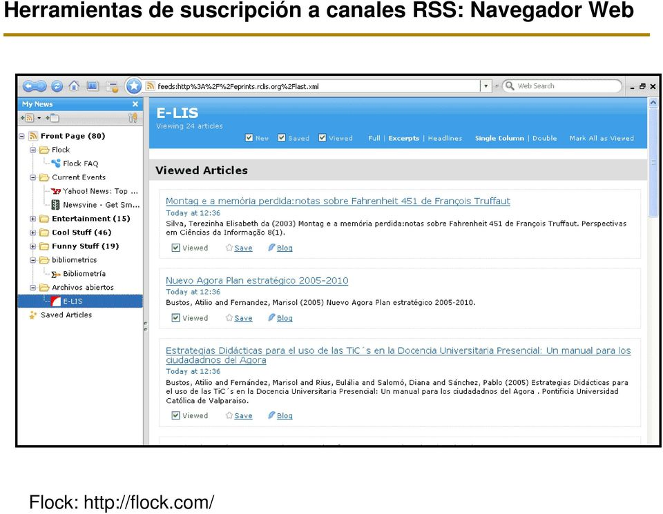canales RSS: