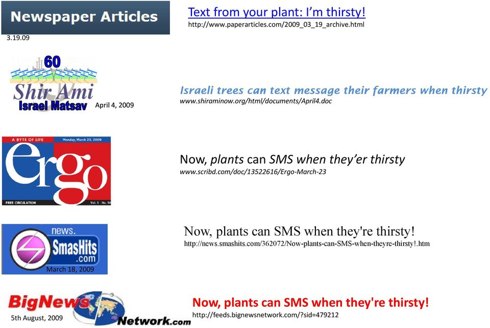 doc i t /A il4 d Now, plants can SMS when they er thirsty www.scribd.