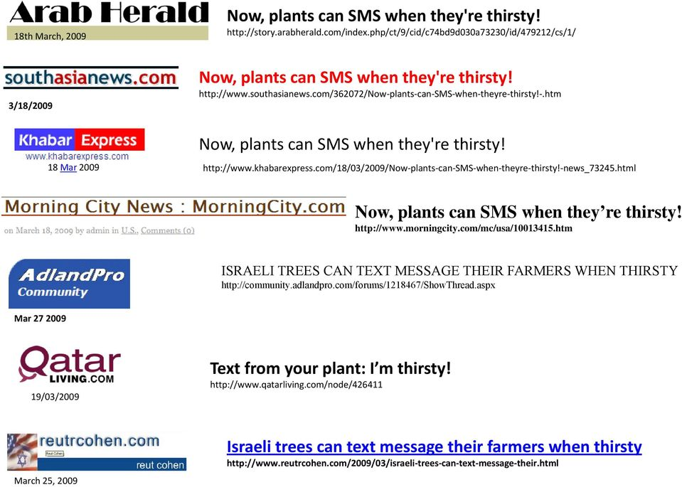 com/18/03/2009/now plants can SMS when theyre thirsty! news_73245.html Now, plants can SMS when they re thirsty! t http://www.morningcity.com/mc/usa/10013415.