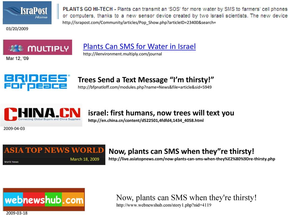 name=news&file=article&sid=5949 article&sid 2009 04 03 israel: first humans, now trees will text you http://en.china.cn/content/d522501,4fdfd4,1434_4058.