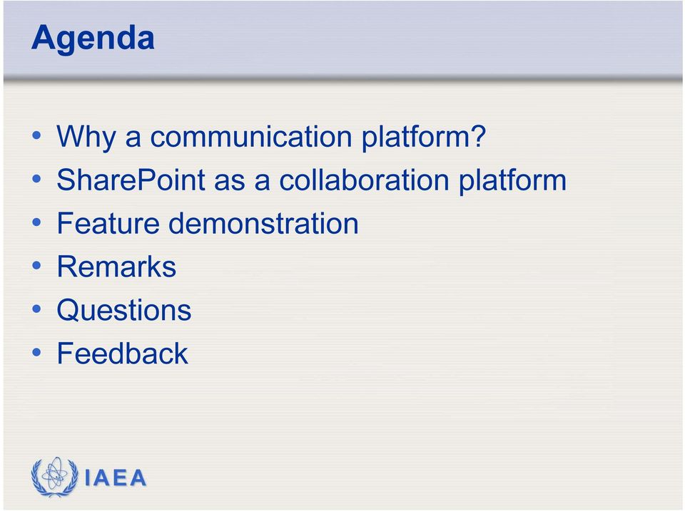 SharePoint as a collaboration