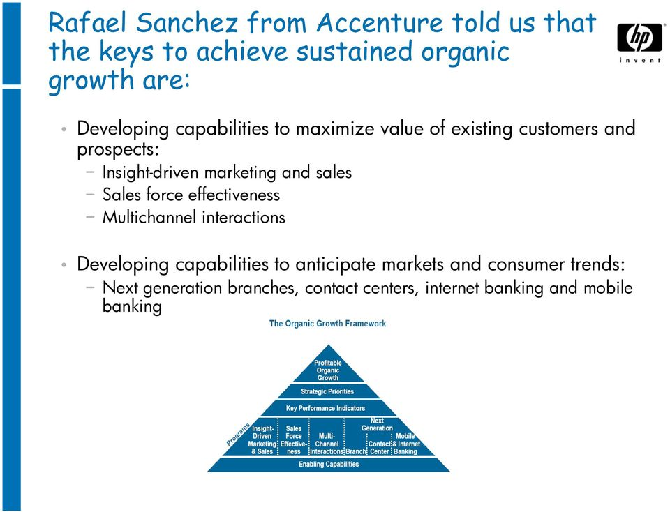 marketing and sales Sales force effectiveness Multichannel interactions Developing capabilities to