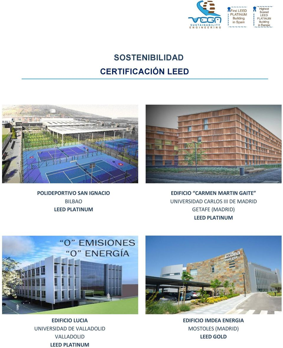 GETAFE (MADRID) LEED PLATINUM EDIFICIO LUCIA UNIVERSIDAD DE VALLADOLID