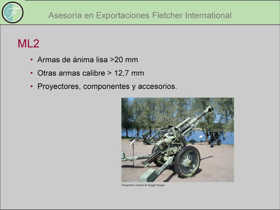 calibre > 12,7 mm