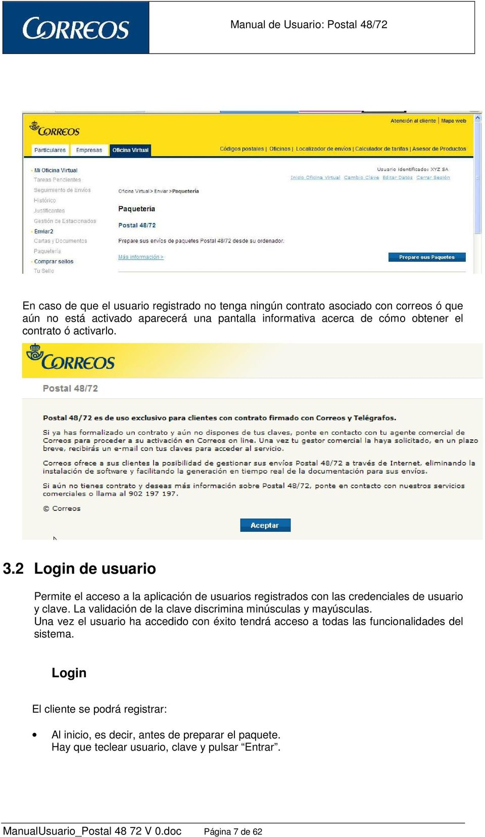 Manual de usuario postal 48 72 oficina virtual de correos for Oficina virtual correos