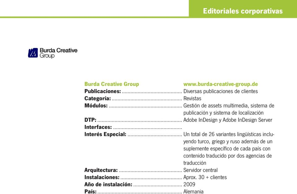 .. Adobe InDesign y Adobe InDesign Server Interfaces:... Interés Especial:.