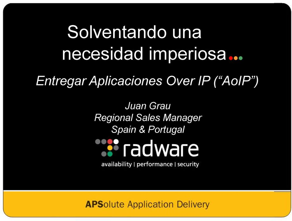 Over IP ( AoIP ) Juan Grau