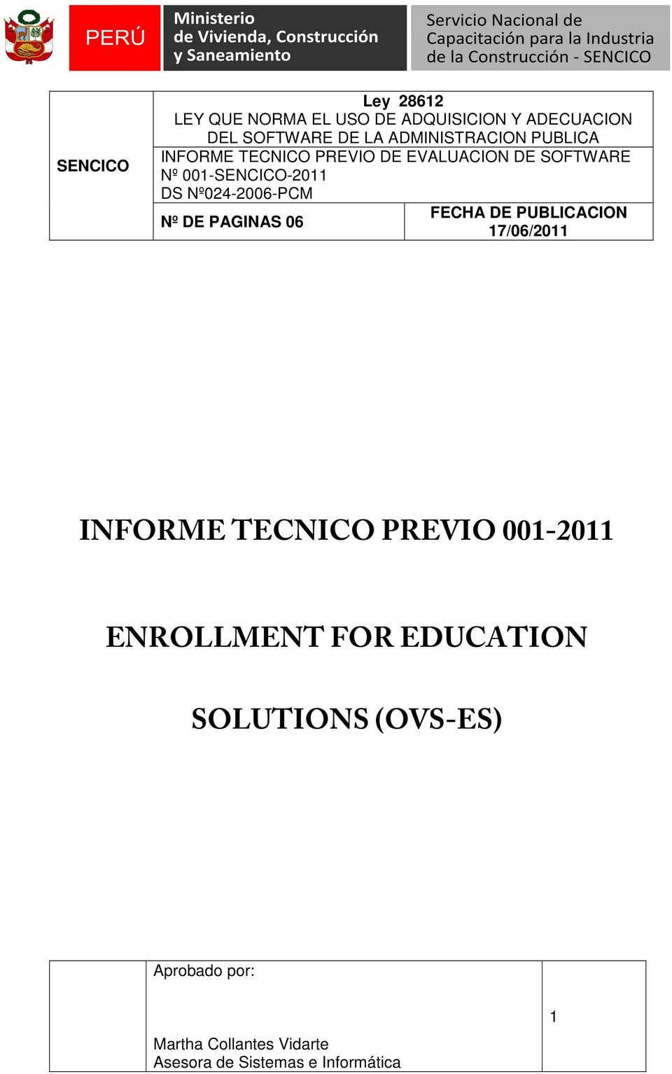 ENROLLMENT FOR