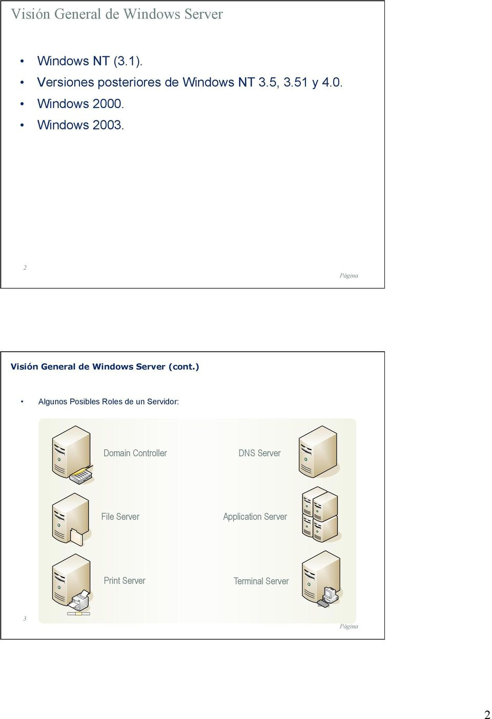 Windows 2003. 2 Visión General de Windows Server (cont.