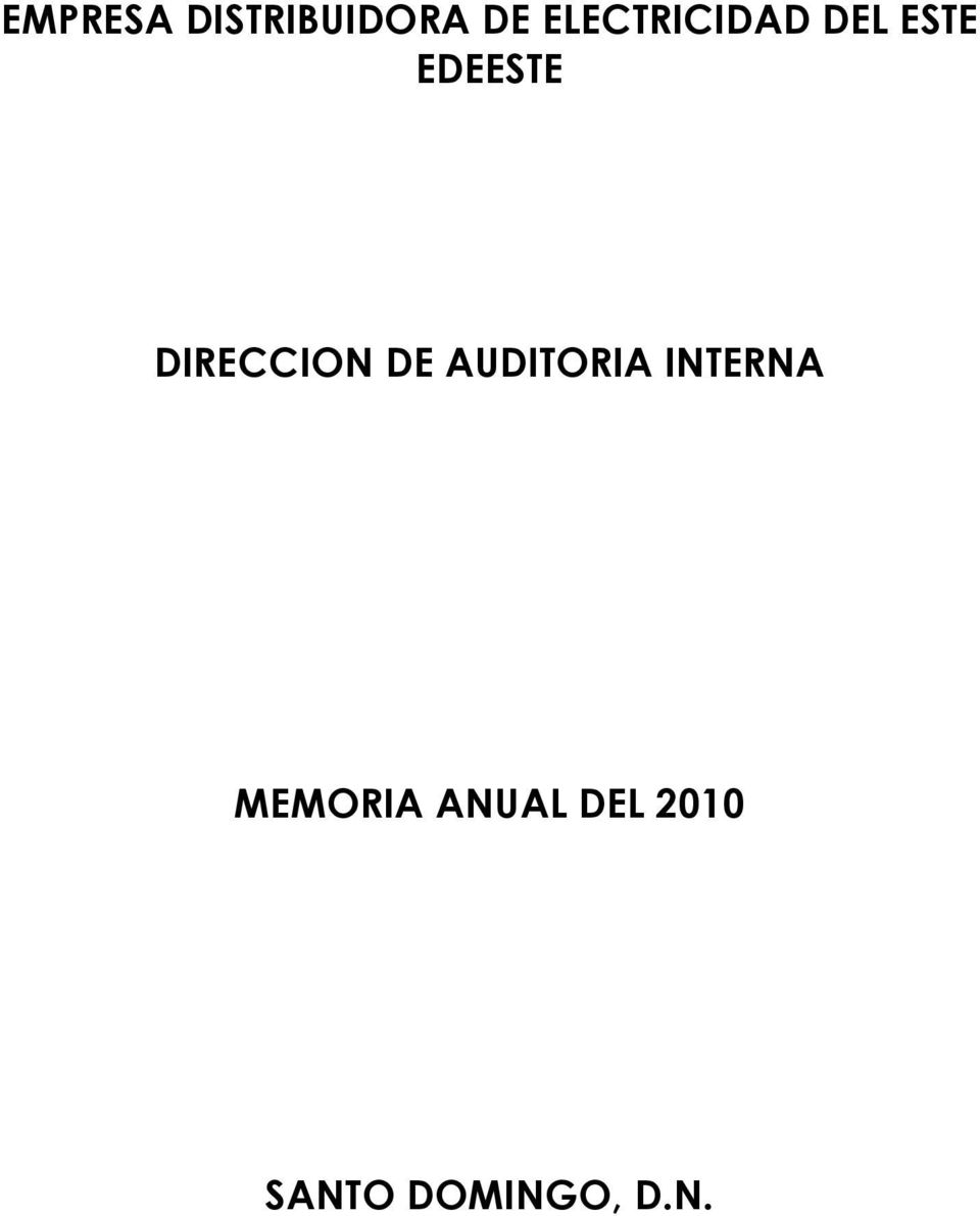 DIRECCION DE AUDITORIA INTERNA