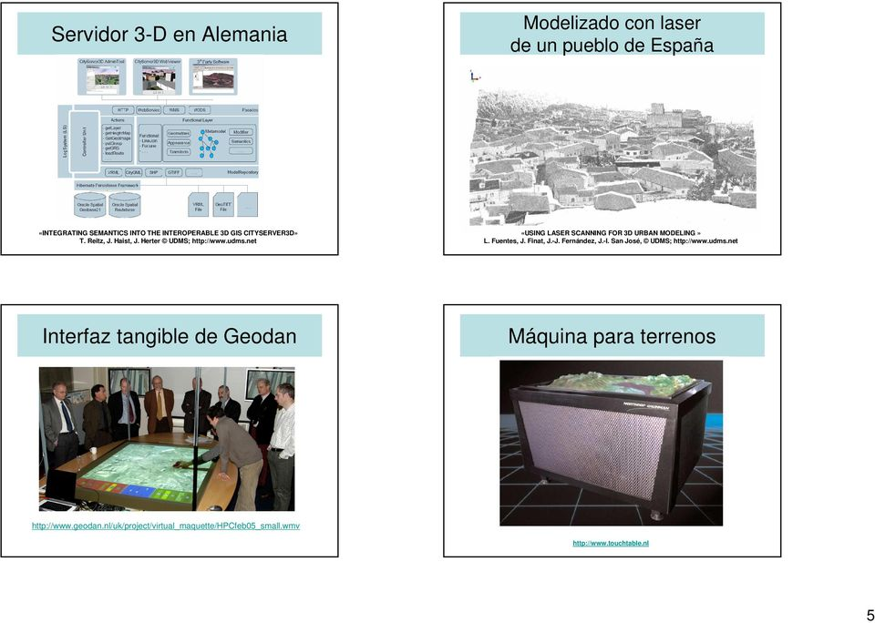 net «USING LASER SCANNING FOR 3D URBAN MODELING» L. Fuentes, J. Finat, J.-J. Fernández, J.-I.