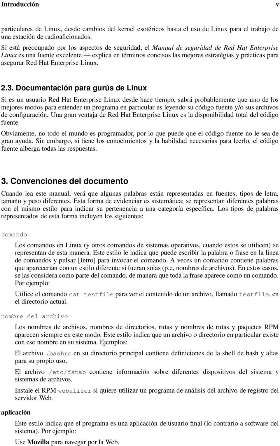 asegurar Red Hat Enterprise Linux. 2.3.