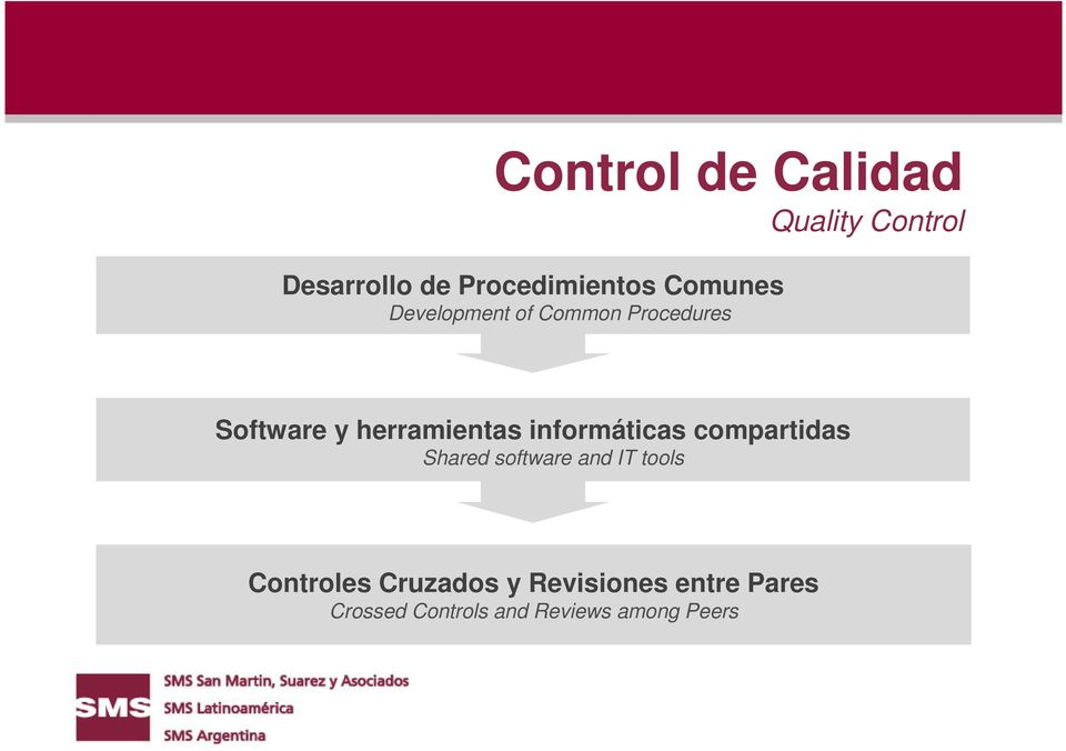 informáticas compartidas Shared software and IT tools Controles