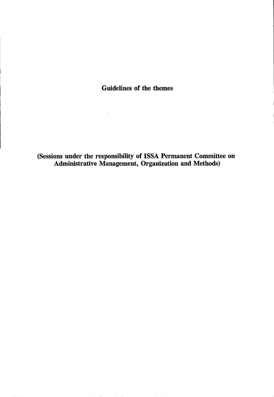 Permanent Committee on