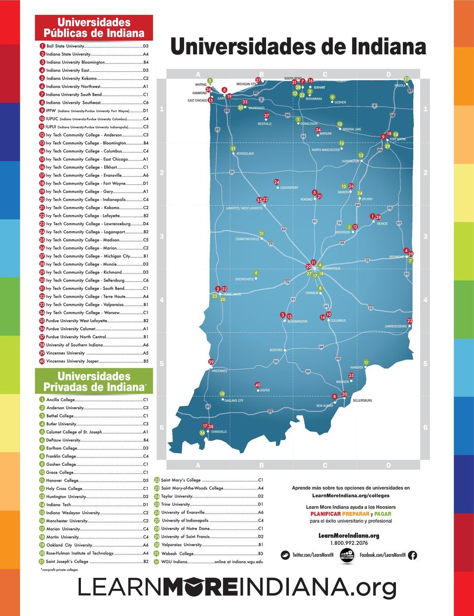 universidades en LearnMoreIndiana.