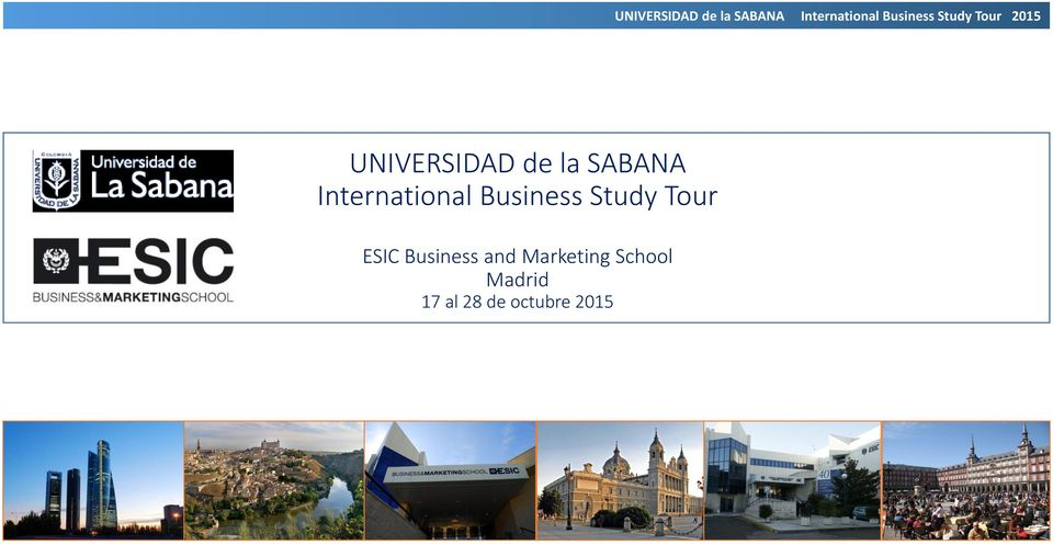 Tour ESIC Business and