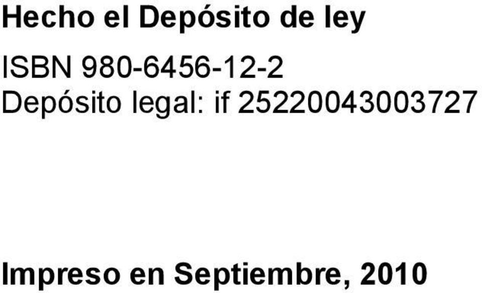 Depósito legal: if
