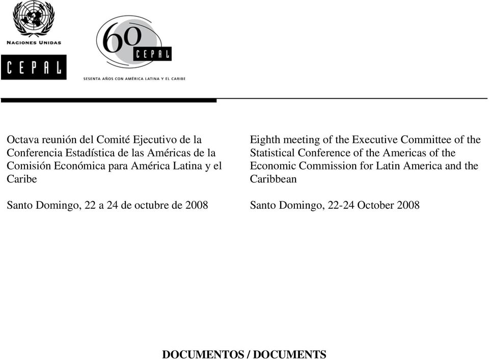 meeting of the Executive Committee of the Statistical Conference of the Americas of the Economic