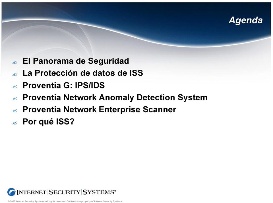 IPS/IDS Proventia Network Anomaly Detection