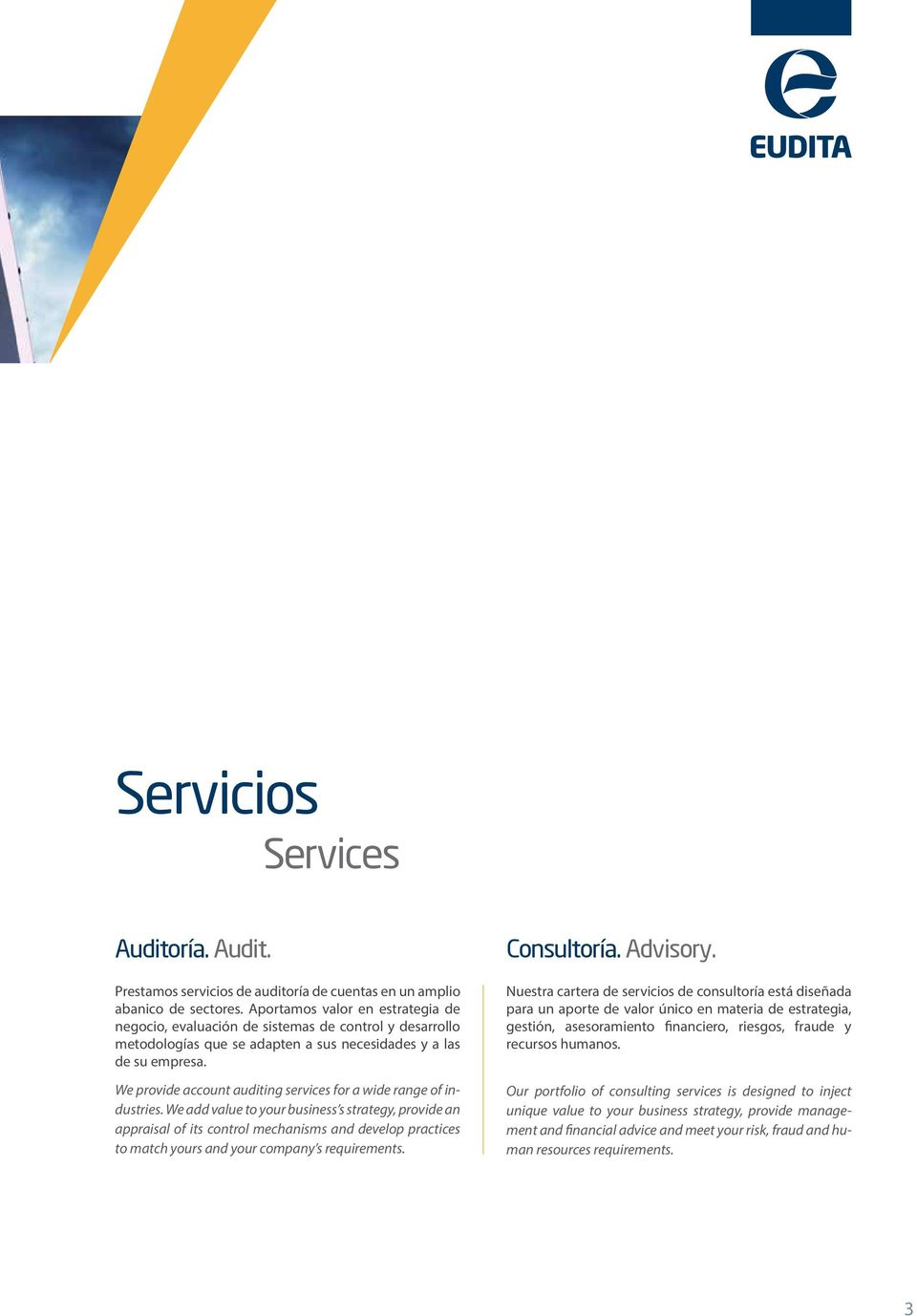 We provide account auditing services for a wide range of industries.