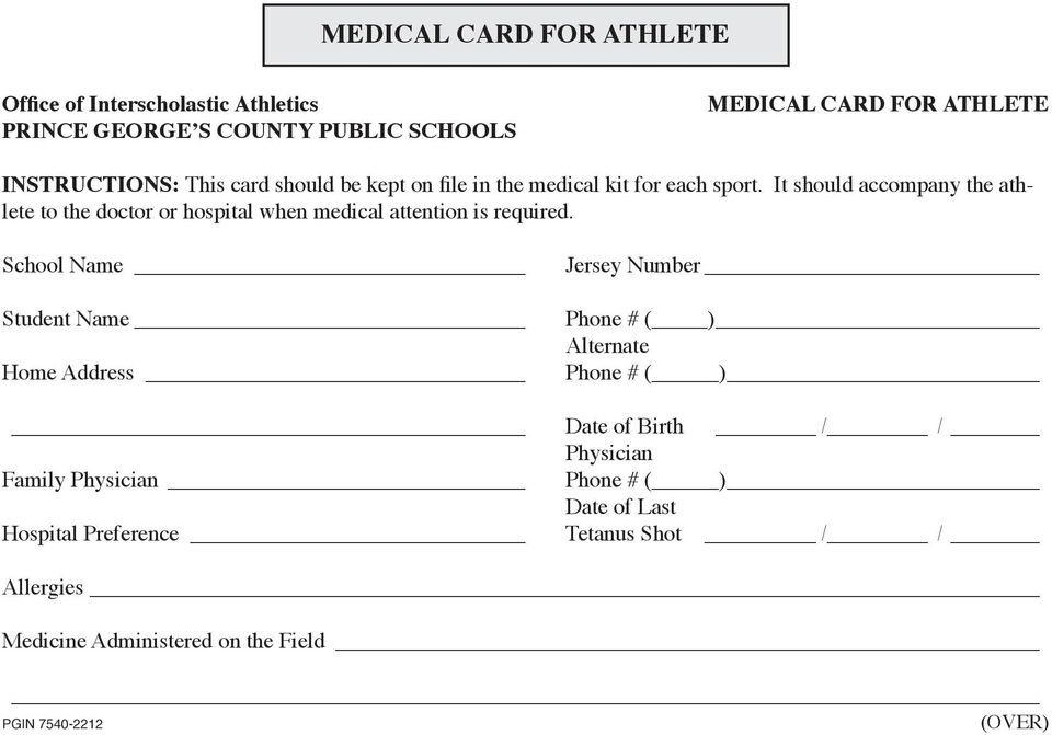 It should accompany the athlete to the doctor or hospital when medical attention is required.