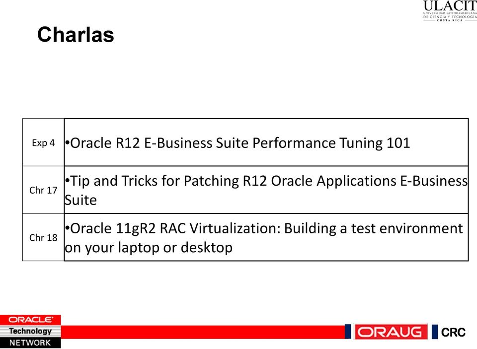 Oracle Applications E-Business Suite Oracle 11gR2 RAC