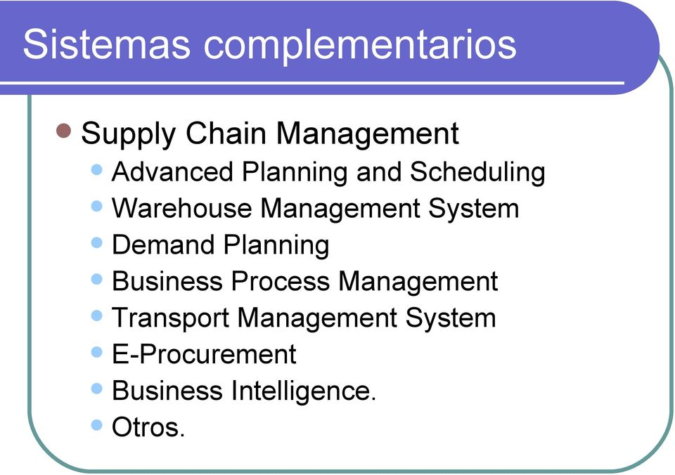 ystem Demand Planning Business Process Management