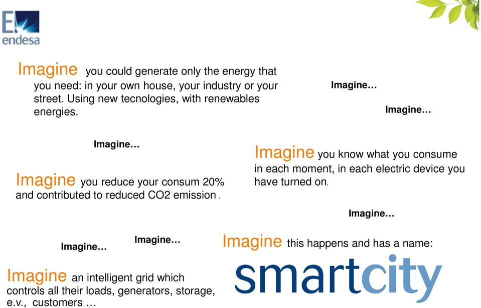 Imagine Imagine Imagine Imagine you reduce your consum 20% and contributed to reduced CO2 emission.