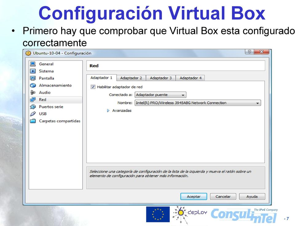 que Virtual Box esta