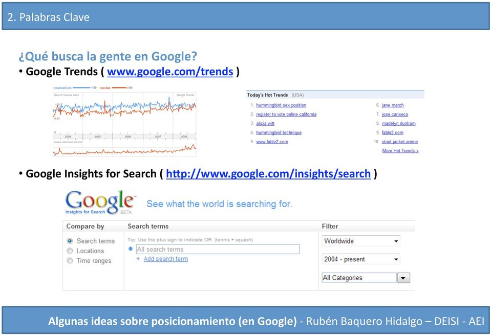 com/trends ) Google Insights for