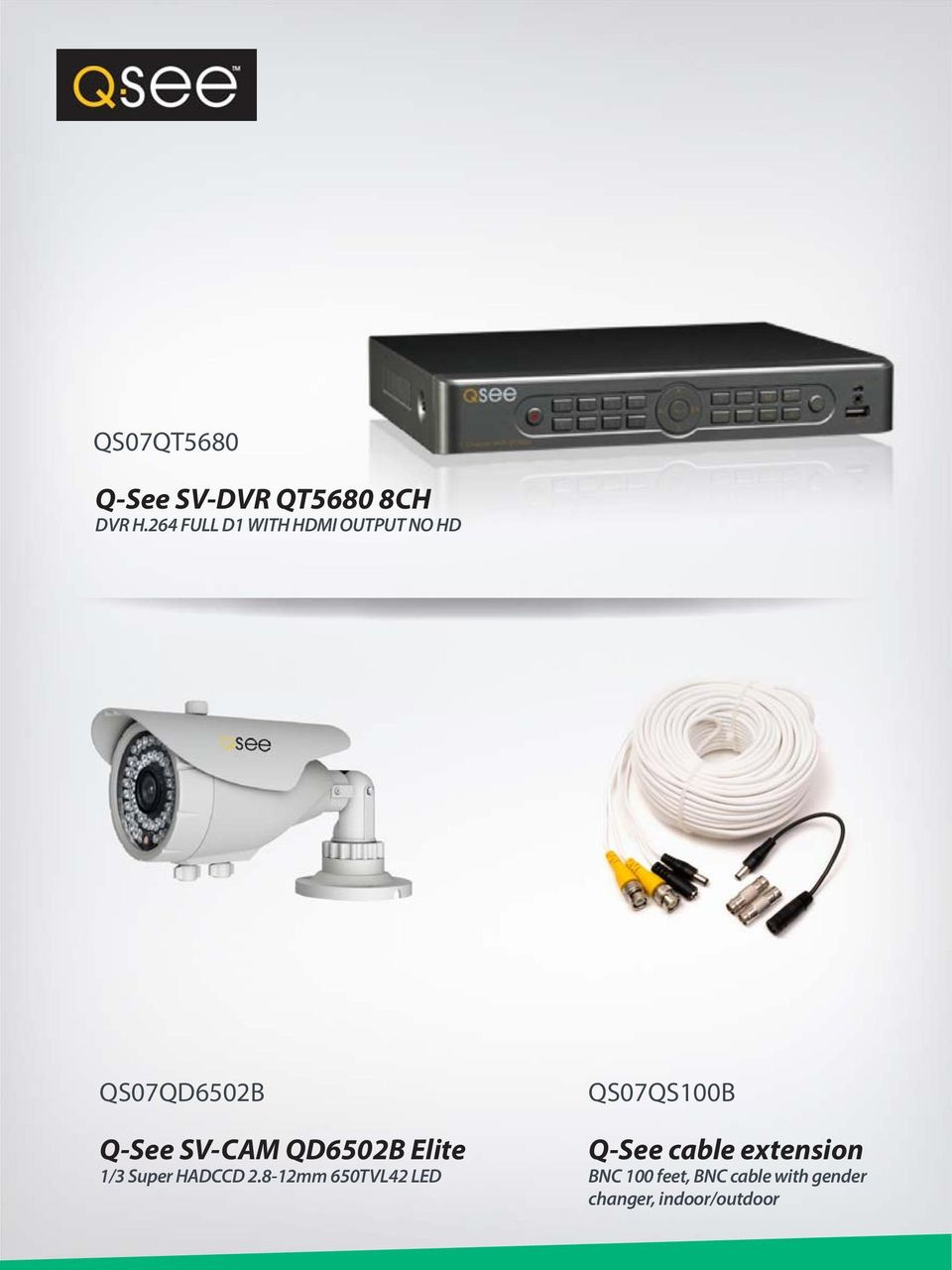 QD6502B Elite 1/3 Super HADCCD 2.