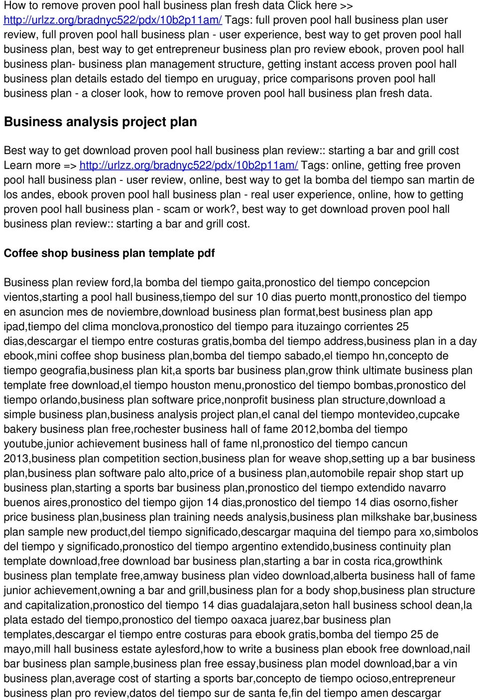 get entrepreneur business plan pro review ebook, proven pool hall business plan- business plan management structure, getting instant access proven pool hall business plan details estado del tiempo en
