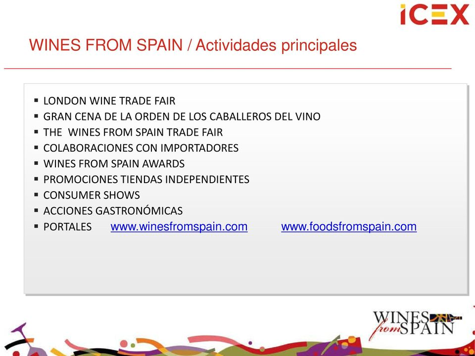 CON IMPORTADORES WINES FROM SPAIN AWARDS PROMOCIONES TIENDAS INDEPENDIENTES