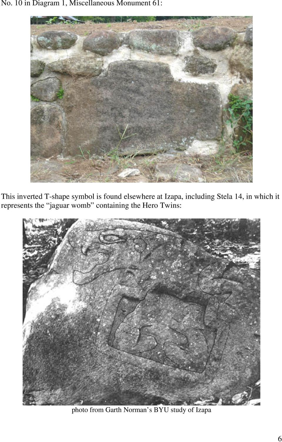 including Stela 14, in which it represents the jaguar womb