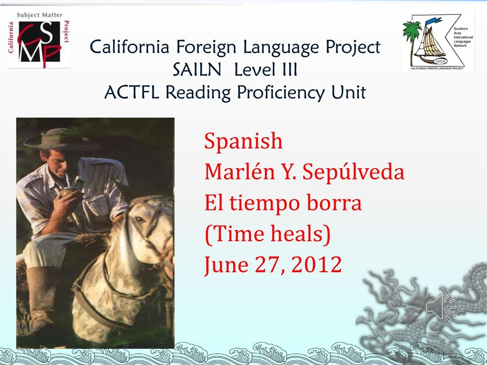 Proficiency Unit Spanish Marlén Y.