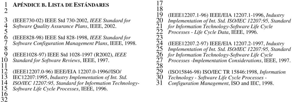 (IEEE12207.0-96) IEEE/EIA 12207.0-1996//ISO/ IEC12207:1995, Industry Implementation of Int. Std. ISO/IEC 12207:95, Standard for Information Technology- Software Life Cycle Processes, IEEE, 1996.