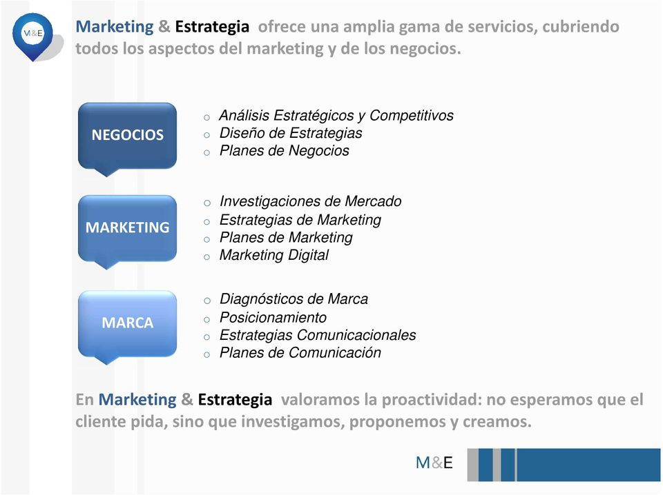 Estrategias de Marketing o Planes de Marketing o Marketing Digital MARCA o Diagnósticos de Marca o Posicionamiento o Estrategias