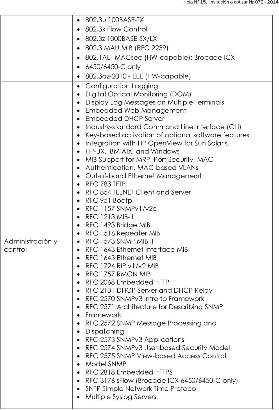 3az-2010 - EEE (HW-capable) Configuration Logging Digital Optical Monitoring (DOM) Display Log Messages on Multiple Terminals Embedded Web Management Embedded DHCP Server Industry-standard Command