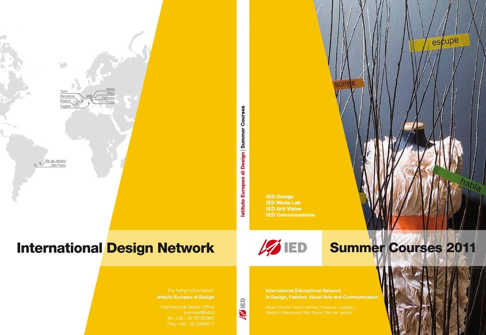 Design International Affairs Office summer@ied.
