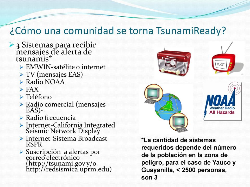 comercial (mensajes EAS)~ Radio frecuencia Internet-California Integrated Seismic Network Display Internet-Sistema Broadcast RSPR