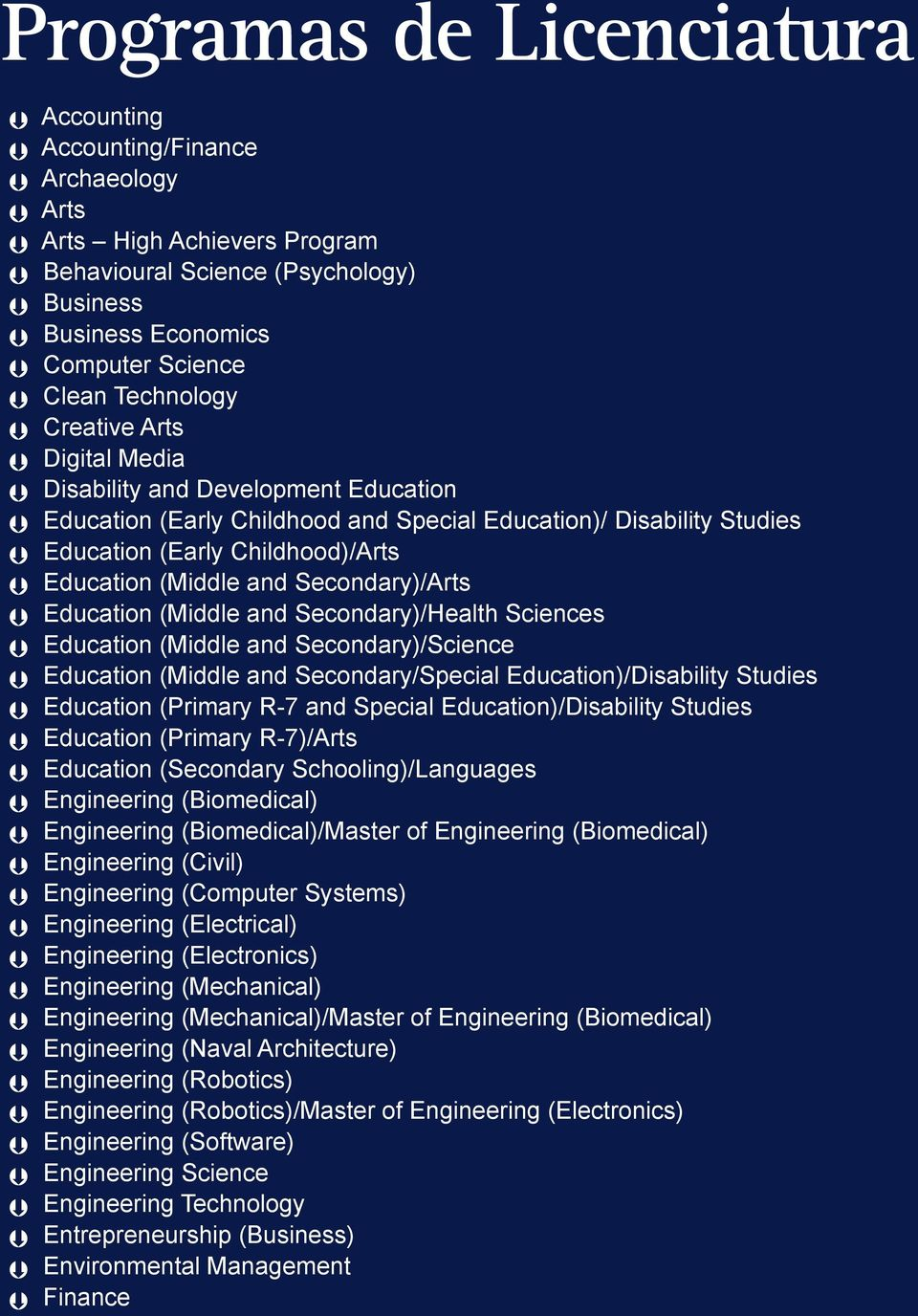 Secondary)/Arts Education (Middle and Secondary)/Health Sciences Education (Middle and Secondary)/Science Education (Middle and Secondary/Special Education)/Disability Studies Education (Primary R-7