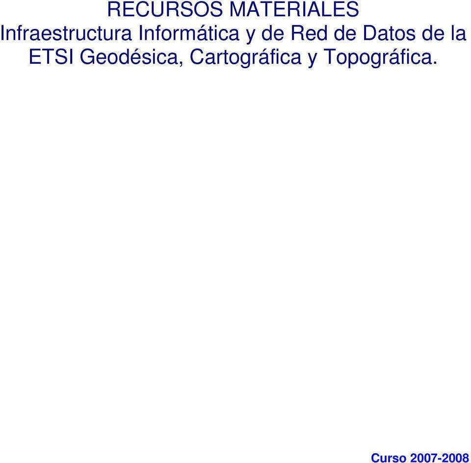 Red de Datos de la ETSI