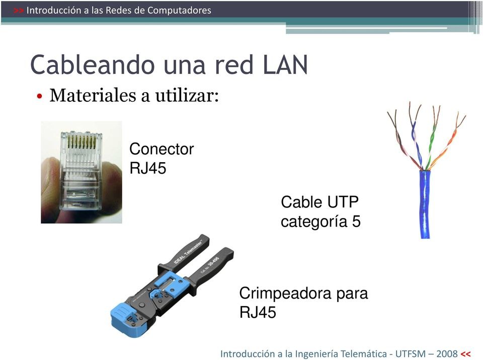 Conector RJ45 Cable UTP