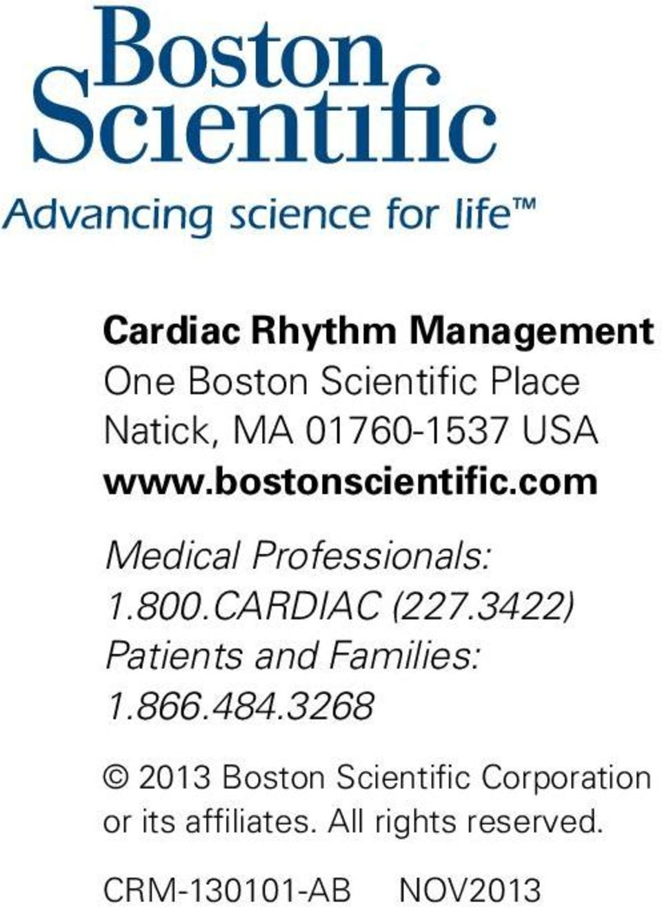 CARDIAC (227.3422) Patients and Families: 1.866.484.