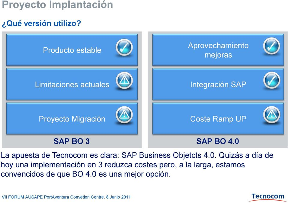 Migración Coste Ramp UP SAP BO 3 SAP BO 4.