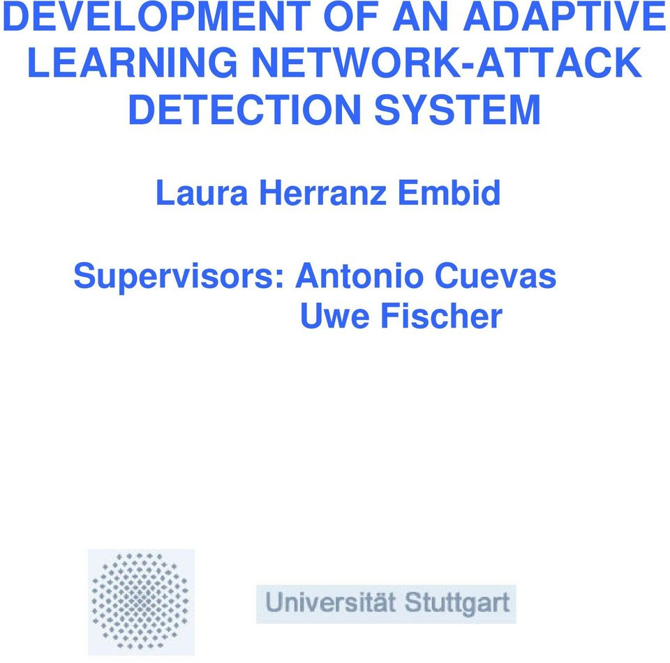 DETECTION SYSTEM Laura Herranz
